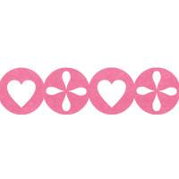 Annet JFC-01 Лента из фетра Annet JFC-01 1 метр H050 розовый