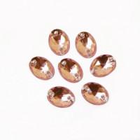 Астра 03 св.розовый Стразы пришивные, акриловые, 6*8мм, 20шт/упак (овальные) Астра 03 св.розовый