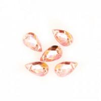 Астра 03 св.розовый Стразы пришивные, акриловые, 6*10мм, 18шт/упак (капля) Астра 03 св.розовый