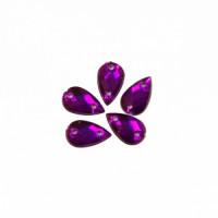 Астра 22 т.пурпур Стразы пришивные, акриловые, 6*10мм, 18шт/упак (капля) Астра 22 т.пурпур