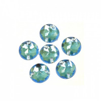 Астра 32 голубой Стразы пришивные, акриловые, 8мм, 20шт/упак (круглые) Астра 32 голубой