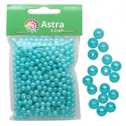 Бусины круглые 'Астра' 7708333 пластик, 5 мм, упак./25 гр., 029 NL цв.бирюза