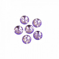 Астра 643 Стразы пришивные, акриловые, 6,5мм, 25шт/упак (круглые) Астра 24 фиолетовый
