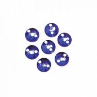 Астра 643 Стразы пришивные, акриловые, 6,5мм, 25шт/упак (круглые) Астра 07 ультрамарин