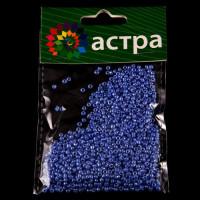Астра 675288-00009 Бисер, (стекло), 11/0, упак./20 гр., 'Астра' (123В голубой/непрозр.глянцевый)