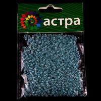 Астра 675288-00017 Бисер, (стекло), 11/0, упак./20 гр., 'Астра' (143 голубой/жемчужный)