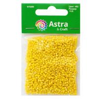 Астра 675288-00070 Бисер, (стекло), 11/0, упак./20 гр., 'Астра' (402 желтый/непрозр.радужный)