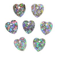 Астра 7700473-00007 Пайетки 'сердечки', 10*10 мм, упак./10 гр., 'Астра' (50112 серебро голограмма)