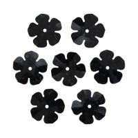 Астра 7700475-00014 Пайетки 'цветочки', 16 мм, упак./10 гр., 'Астра' (А50 черный голограмма)