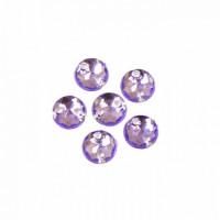 Астра 7701643 Стразы пришивные, акриловые (круглые), 24 фиолетовый