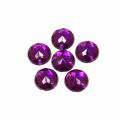Астра 7701644 Стразы пришивные, акриловые, 8мм, 20шт/упак (круглые) Астра 22 т.пурпур