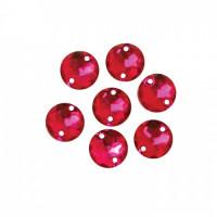 Астра 7701644 Стразы пришивные, акриловые,  (круглые) ,38 рубин