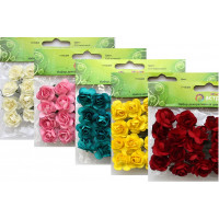 Астра 7715384 Набор декоративных цветов АСТРА, d 2*2 см MH1-T010 , упак./24 шт.