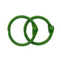 Астра 7718330-00002 Кольца для альбомов 20мм., 2шт/упак., Астра (ARS2091 зеленый)