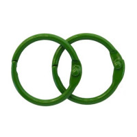 Астра 7718331-00005 Кольца для альбомов 25мм., 2шт/упак., Астра (ARS2096 зеленый)