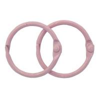 Астра 7718332-00003 Кольца для альбомов 30мм., 2шт/упак., Астра (ARS2099 розовый)