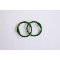 Астра 7718333-00003 Кольца для альбомов 35мм., 2шт/упак., Астра (ARS2103 зеленый)
