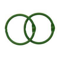 Астра 7718334-00005 Кольца для альбомов 40мм., 2шт/упак., Астра (ARS2108 зеленый)