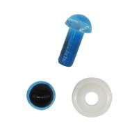Астра 7722409 Глазки пластиковые с фиксатором 5мм, 24шт/упак (голубой)