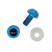 Астра 7722410 Глазки пластиковые с фиксатором 6мм, 24шт/упак (голубой)