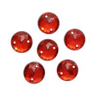 Астра 7725948 Стразы пришивные, акриловые, 10мм, 15шт/упак (круглые) Астра N1 красный