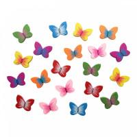 Астра 7727914 Бусины деревянные, цветной микс, бабочки, 15гр/упак, Астра 4AR401
