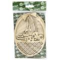 Астра 900499 Деревянная заготовка  Пасхальное лукошко