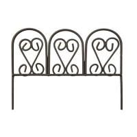 """Астра Ажурный забор Ажурный забор """"Астра"""" КВ3341 миниатюра металл., 8*3,5*6 см, корич."""