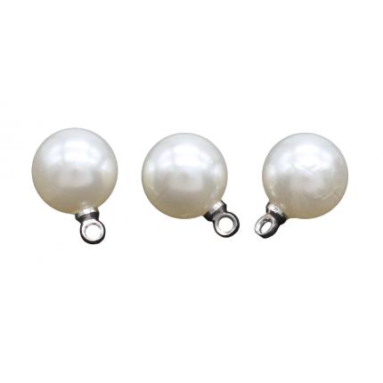 Бусина с петелькой 'Астра' 7727707  6 мм, 15шт/упак., 4AR297 (серебро) (арт. Бусина с петелькой)