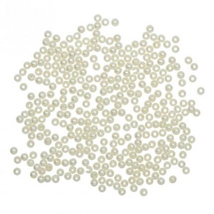 "Бусины круглые ""Астра"" 7708331 пластик, 3 мм, 20 г/упак. 029NL цв.белый (арт. Бусины круглые)"