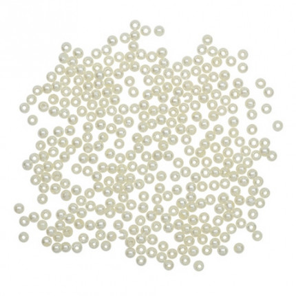 "Бусины круглые ""Астра"" 7708331 пластик, 3 мм, 20 г/упак. 003NL цв.жемчуг (арт. Бусины круглые)"