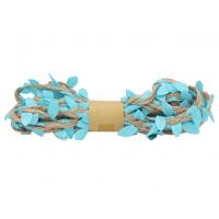 Астра Декоративная веревка с листиками Декоративная веревка с листиками, 3м, (голубая) 2AR206 00002