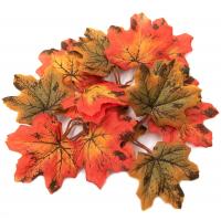 Астра Кленовые листья Кленовые листья, 12шт/упак.,  XY19-1147 (зелено-коричневые, желто-оранжевый)