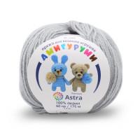 Astra Premium АРС-27155-1-АРС0001234620 Пряжа Амигуруми 50гр 175 м (100% акрил) (168 светло-серый) светло-серый