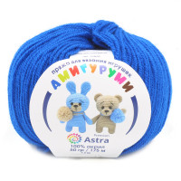 Astra Premium АРС-27517-1-АРС0001234623 Пряжа Амигуруми 50гр 175 м (100% акрил) (019 василек) василек