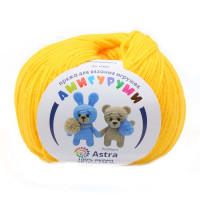 Astra Premium АРС-27518-1-АРС0001234626 Пряжа Амигуруми 50гр 175 м (100% акрил) (104 желтый) желтый