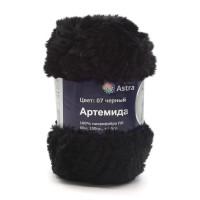 Astra Premium АРС-33251-1-АРС0001234337 Пряжа Артемида 100гр. 60м (100% микрофибра ПЛ) (07 черный) черный