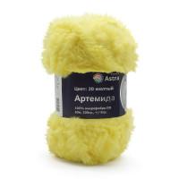 Astra Premium АРС-33254-1-АРС0001234340 Пряжа Артемида 100гр. 60м (100% микрофибра ПЛ) (20 желтый) желтый
