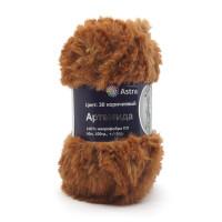 Astra Premium АРС-33257-1-АРС0001234343 Пряжа Артемида 100гр. 60м (100% микрофибра ПЛ) (30 коричневый) коричневый
