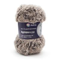 Astra Premium АРС-33259-1-АРС0001234345 Пряжа Артемида 100гр. 60м (100% микрофибра ПЛ) (15 серый/коричневый) серый/коричневый