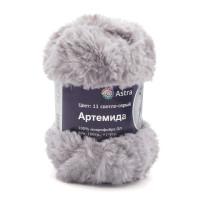 Astra Premium АРС-33261-1-АРС0001234347 Пряжа Артемида 100гр. 60м (100% микрофибра ПЛ) (11 светло-серый) светло-серый
