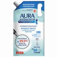 AURA 10624 Мыло-крем антибактериальное 1 л AURA PRO EXPERT, с антисептическим эффектом, дой-пак, 10624