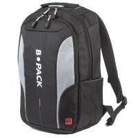 """B-PACK 226950 Рюкзак B-PACK """"S-04"""" (БИ-ПАК) универсальный, с отделением для ноутбука, влагостойкий, черный, 45х29х16 см, 226950"""