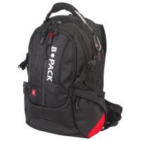 """B-PACK 226955 Рюкзак B-PACK """"S-08"""" (БИ-ПАК) универсальный, с отделением для ноутбука, влагостойкий, черный, 50х32х17 см, 226955"""