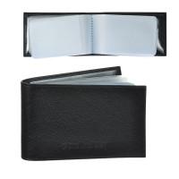 "BEFLER K.5.-9 Визитница карманная BEFLER ""Грейд"" на 40 визитных карт, натуральная кожа, тиснение, черная, K.5.-9"