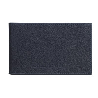 "BEFLER K.5.-9 Визитница карманная BEFLER ""Грейд"", на 40 визиток, натуральная кожа, тиснение, синяя, K.5.-9"