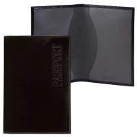 """BEFLER О.1-1 Обложка для паспорта BEFLER """"Classic"""", натуральная кожа, тиснение """"Passport"""", черная, О.1-1"""