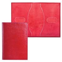 """BEFLER О.1-3 Обложка для паспорта BEFLER """"Ящерица"""", натуральная кожа, тиснение, красная, О.1-3"""