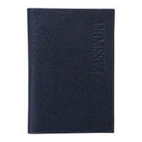 """BEFLER O.1.-9 Обложка для паспорта BEFLER """"Грейд"""", натуральная кожа, тиснение, синяя, O.1.-9"""