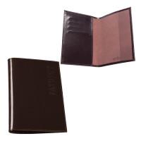"""BEFLER O.23.-1 Обложка для паспорта BEFLER """"Classic"""", натуральная кожа, тиснение """"Passport"""", коричневая, O.23.-1"""